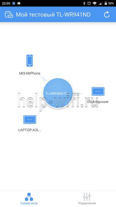 схема сети с возможностью блокировки