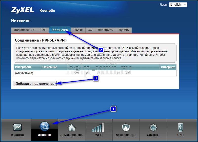zyxel интерфейс